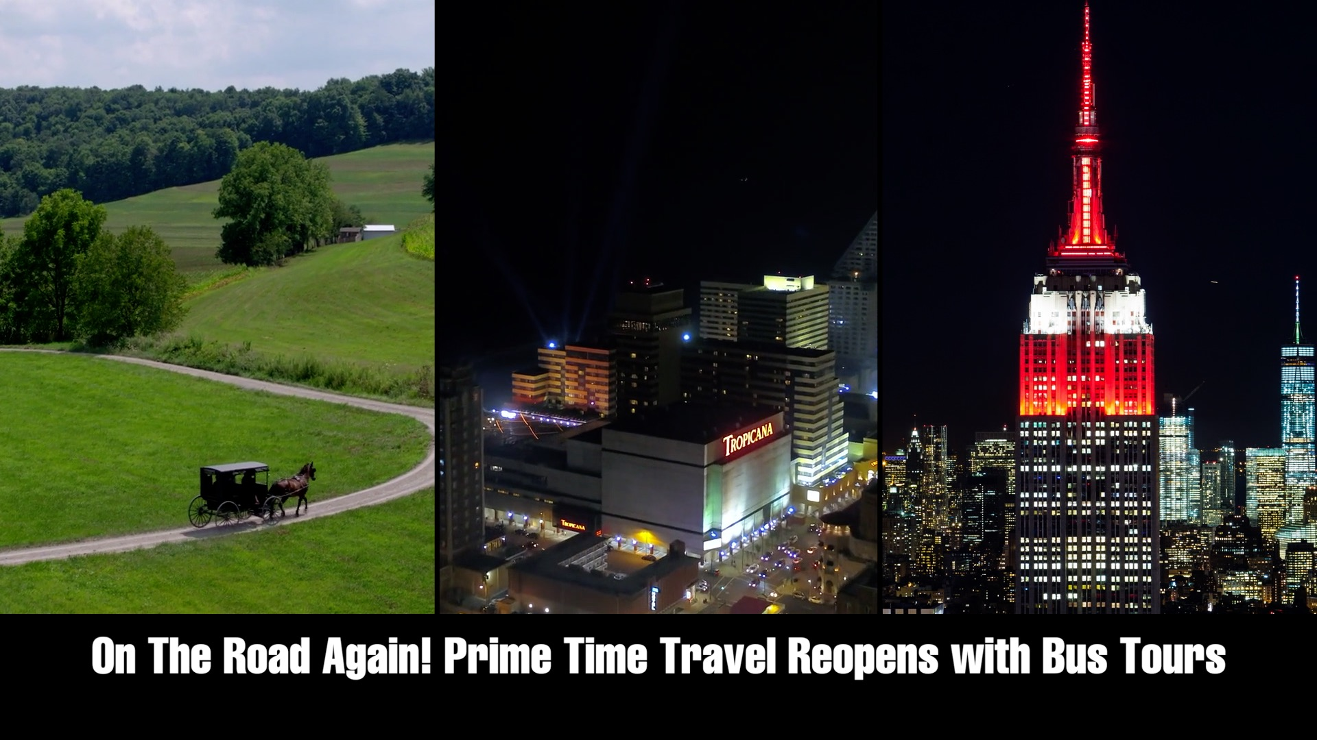 On The Road Again! Prime Time Travel Reopens with Bus Tours